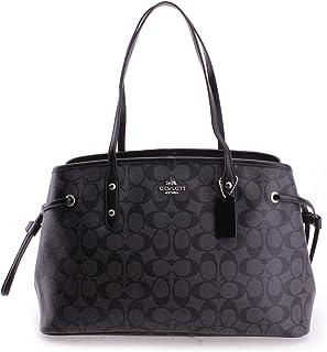Women's Signature Drawstring Carryall Shoulder Bag No Size (Sv/Black Smoke/Black)