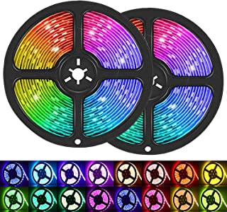 LED Strip Lights, 32.8ft/10M 5050 RGB 300 LEDs Strip Lights Non-Waterproof Rope Lights Color Changing Tape Light Kit with ...
