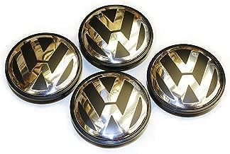 AntennaMastsRus 65MM Hubcap Wheel Center Caps - Part Number 3B7-601-171 (4 Pieces) is Compatible with Volkswagen Caddy,EOS,Golf,Jetta,Passat CC,Phaeton,Scirocco,Sharan,Tiguan,Touran,Transporter