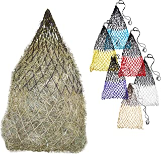 "Derby Originals 42"" Superior Slow Feed Soft Mesh Poly Rope Hanging Hay Net with 2x2"" Holes - Ultimate Comfort for Horse's Muzzle - Multiple Colors"