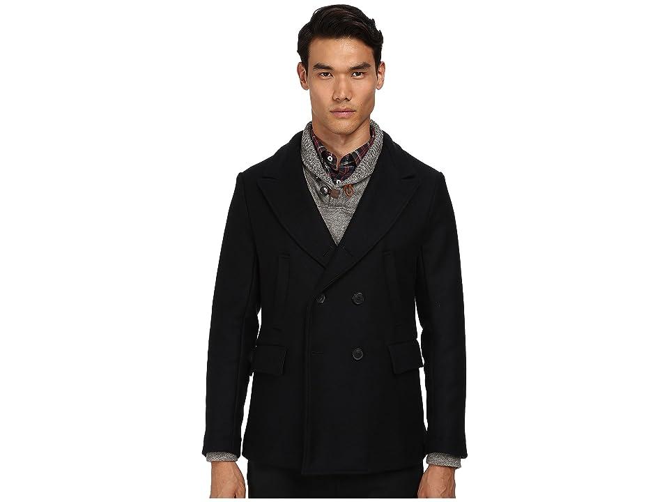 Image of Billy Reid Bond Peacoat (Navy) Men's Coat