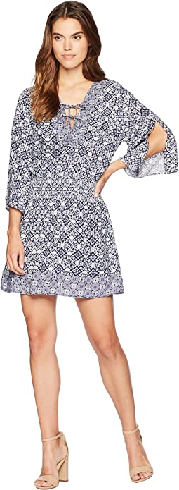 "Saylor ""Ikat"" Printed Dress"