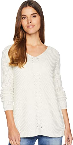Bedroom Dancing Lace Back Sweater