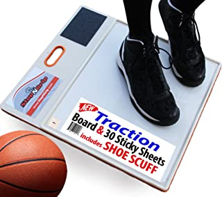 StepNGrip Courtside Shoe Grip Traction Board - Includes 30 Sticky Sheets and Shoe Scuff- Allows Court Grip for Basketball Volleyball. Sticky Stop Power