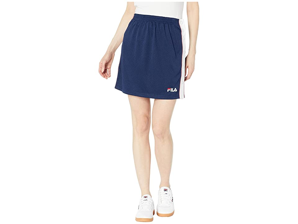 Fila Miriam Tearaway Mini Skirt (Peach/White/Chinese Red) Women