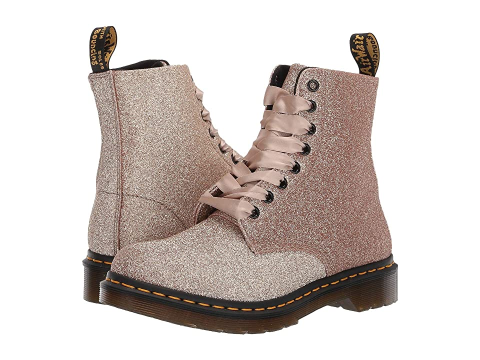 Dr. Martens 1460 Pascal Glitter (Rose Gold Uncoated Glitter PU) Women