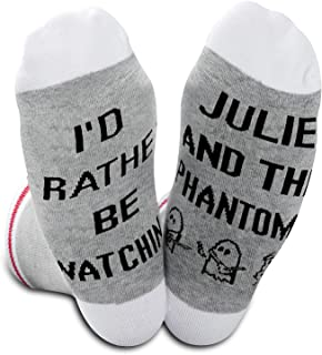 Novelty Tv Movie Gift I'd Rather Be Watching TV Show Socks For Fans Fandom