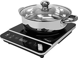Rosewill Induction Cooker 1800 Watt, Induction Cooktop, Electric Burner with Stainless Steel Pot 10