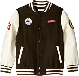 Stella McCartney Kids - Donald Wool Varsity Jacket with Patches (Toddler/Little Kids/Big Kids)