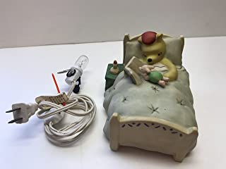 Classic Winnie The Pooh in Bed with Piglet Porcelain Nightlight