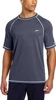 Men's UV Swim Shirt Short Sleeve Loose Fit Easy Tee