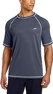 Men's Short Sleeve Easy Rash Guard Swim Shirt with Uv and...