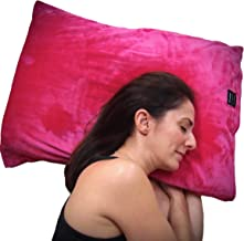 throwbee Pillowcase - Pink Original Fitted Super Soft Plush Luxury Classic Pillow Case Envelope Standard Size Adults Kids Teens
