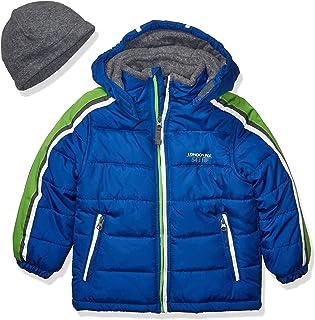 LONDON FOG Boys' Little Active Puffer Jacket Winter Coat, Super Blue, 7