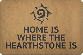60JimNic Home is Where The Hearthstone is Doormat World of Warcraft Welcome Mat