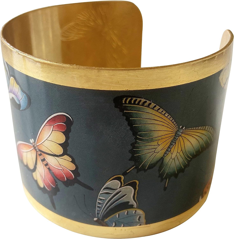 Anuschka Women's Gold Plated Cuff - Premium 24K Gold Foil Plating