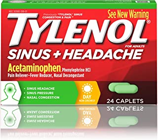 TYLENOL Sinus Congestion & Pain Caplets Daytime 24 ea 3 Pack Packaging May Vary