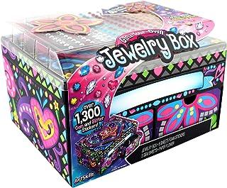 ArtSkills Glitz Your Own Jewelry Box Self-Adhesive Gems, Glitter and Foam Stickers, 10 Pieces, Multi