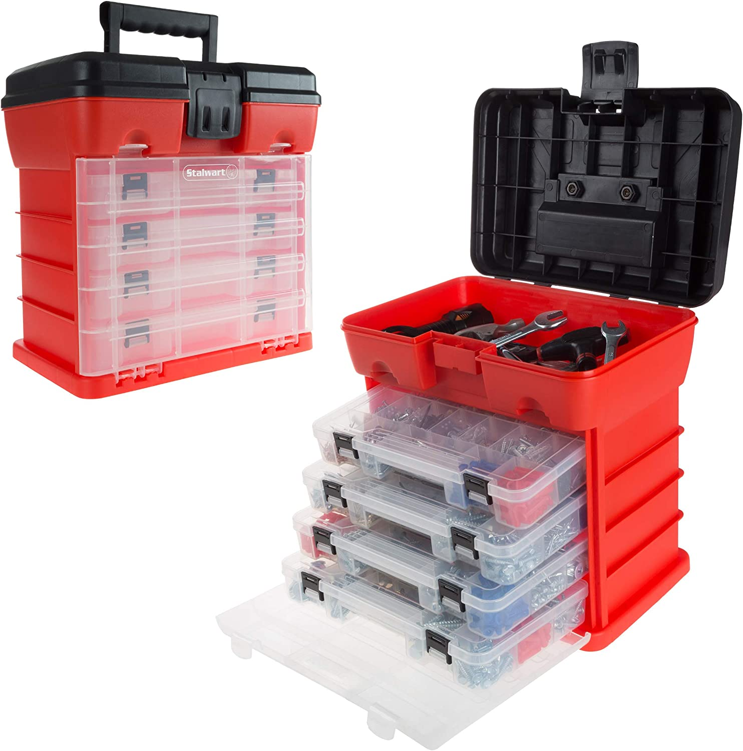 Storage and Tool Box- Durable Organizer Box with 4 Max 68% OFF Utility Las Vegas Mall Compa