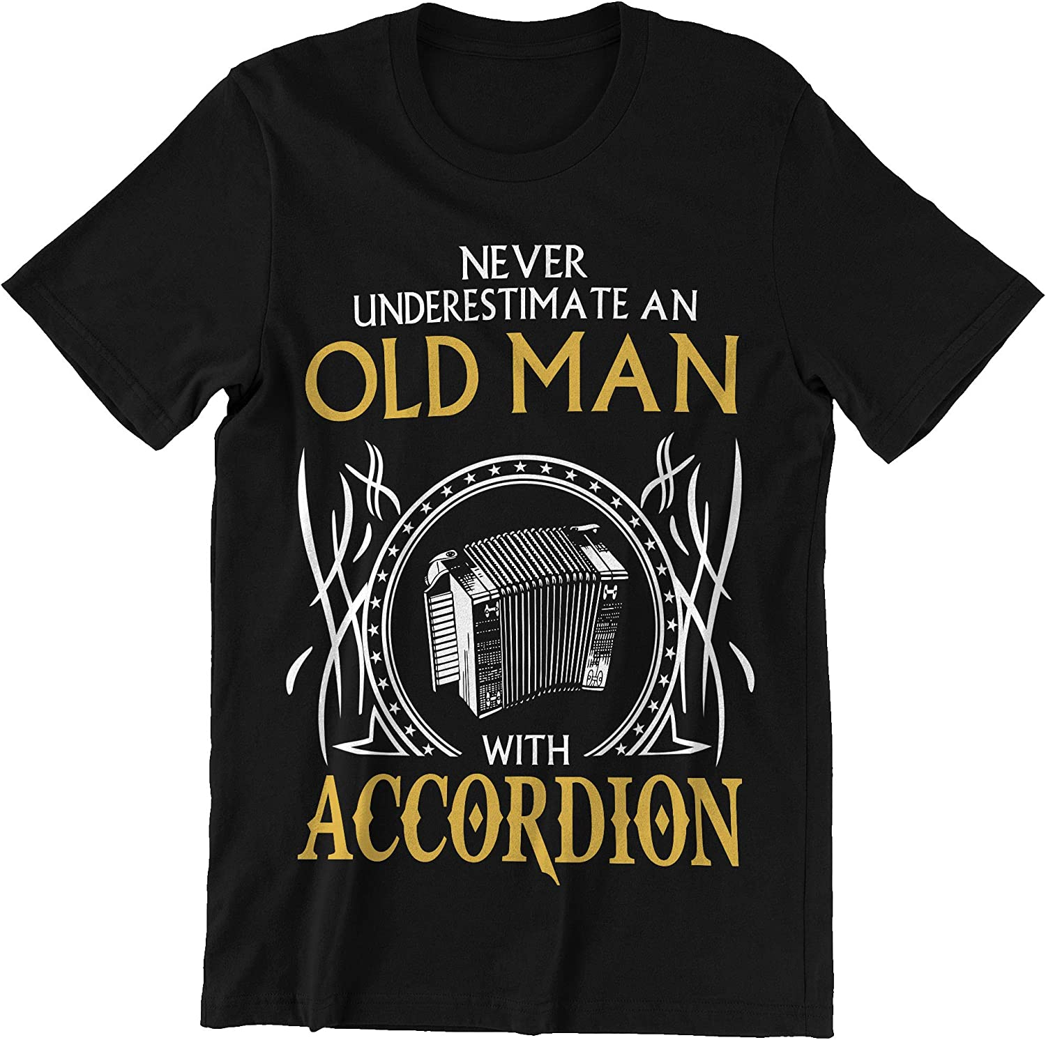 Ladonna Accordion Old Man New mail order with Don't miss the campaign Shirt