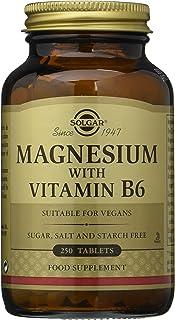 سولجار، مغنيسيوم، مع فيتامين بي 6، 250 قرص