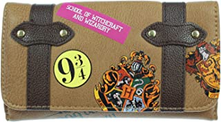 Hogwarts School Trunk Inspired Snap Closure Trifold Wallet