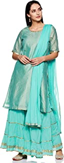 BIBA Women's Cotton Anarkali Salwar Suit Set