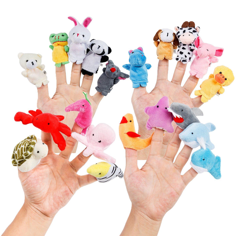 Oiuros Different Cartoon Animal Puppets