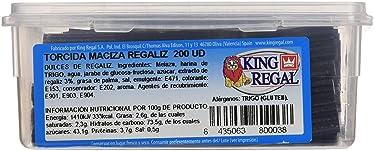 King Regal Torcida Maciza Regaliz - estuche 200 unidades