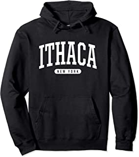 Ithaca Hoodie Sweatshirt College University Style NY USA.
