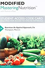 Modified Mastering Nutrition with MyDietAnalysis with Pearson eText -- Standalone Access Card -- for Nutrition: An Applied Approach (5th Edition)