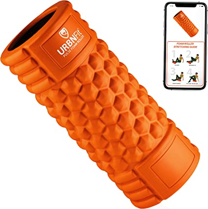 Vibrating Foam Roller - 5-Speed Massager and Roller for Muscle Recovery