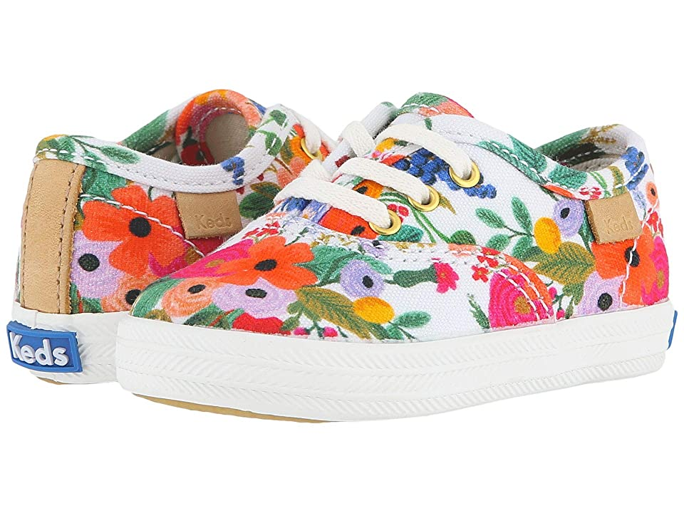 Keds x Rifle Paper Co. Kids Rifle Paper Champion Seasonal Crib (Infant/Toddler) (Garden Party) Girls Shoes