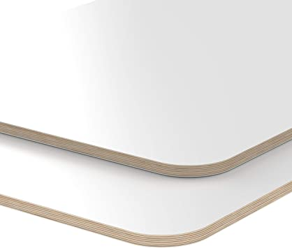 AUPROTEC Multiplexplatte 27mm rechteckig 1300 mm x 700 mm Holzplatten von 40cm-200cm ausw/ählbar Ecken Radius 100mm Sperrholz-Platten Birke Massiv Multiplex Holz Industriequalit/ät z.B als Tisch-Platte