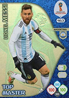 FIFA WORLD CUP 2018 ADRENALYN XL Russia - Lionel Messi TOP Master Trading Card - Argentina #463