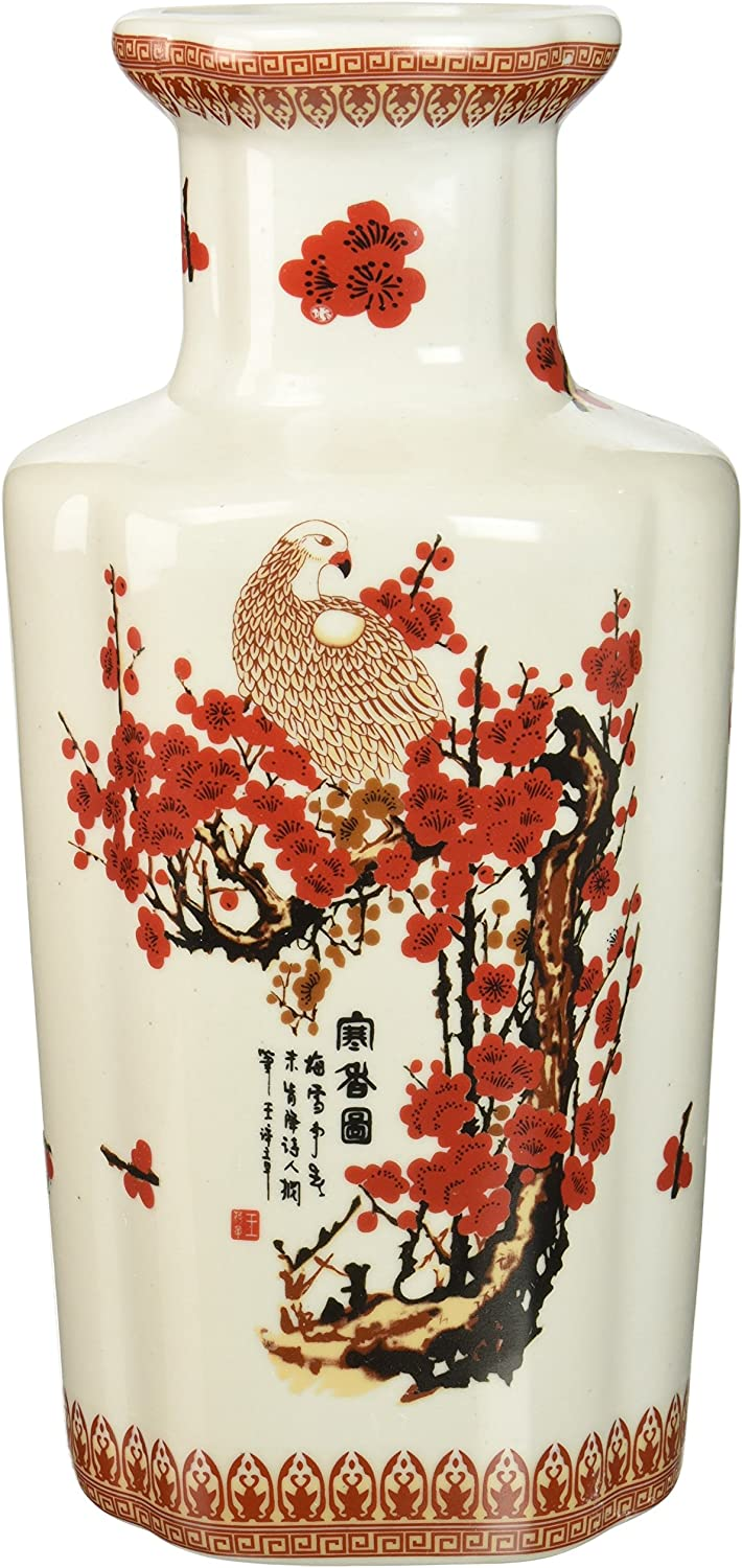 Oriental Furniture 12  Cherry Blossom Porcelain Vase