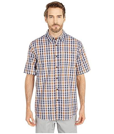 Dickies Short Sleeve Woven Shirt (Navy Brown Duck Plaid) Men
