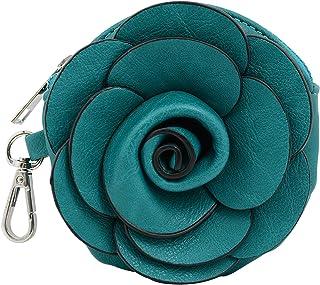 Mellow World Camellia Hb2701, Vegan Leather Flower Coin Pouch Wristlet Wallet