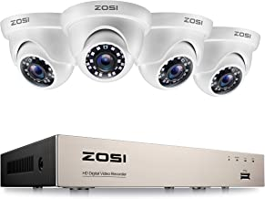 ZOSI 8 Channel H.265+ 1080P Home CCTV Security Camera Systems 2MP DVR with 4 Cameras 1080P Motion Detection Smart Window A...