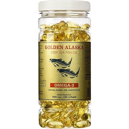 Golden Alaska Deep Sea Fish Oil Omega-3, 1000 Mg, 200 Capsules