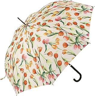 Signare Paraguas Mango de Bastón en el diseño Tulipán blanco