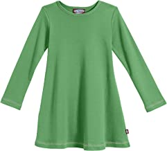 City Threads Girls' 100% Cotton Long Sleeve Dress - Active Kids School, Playing, Parties - Made in USA
