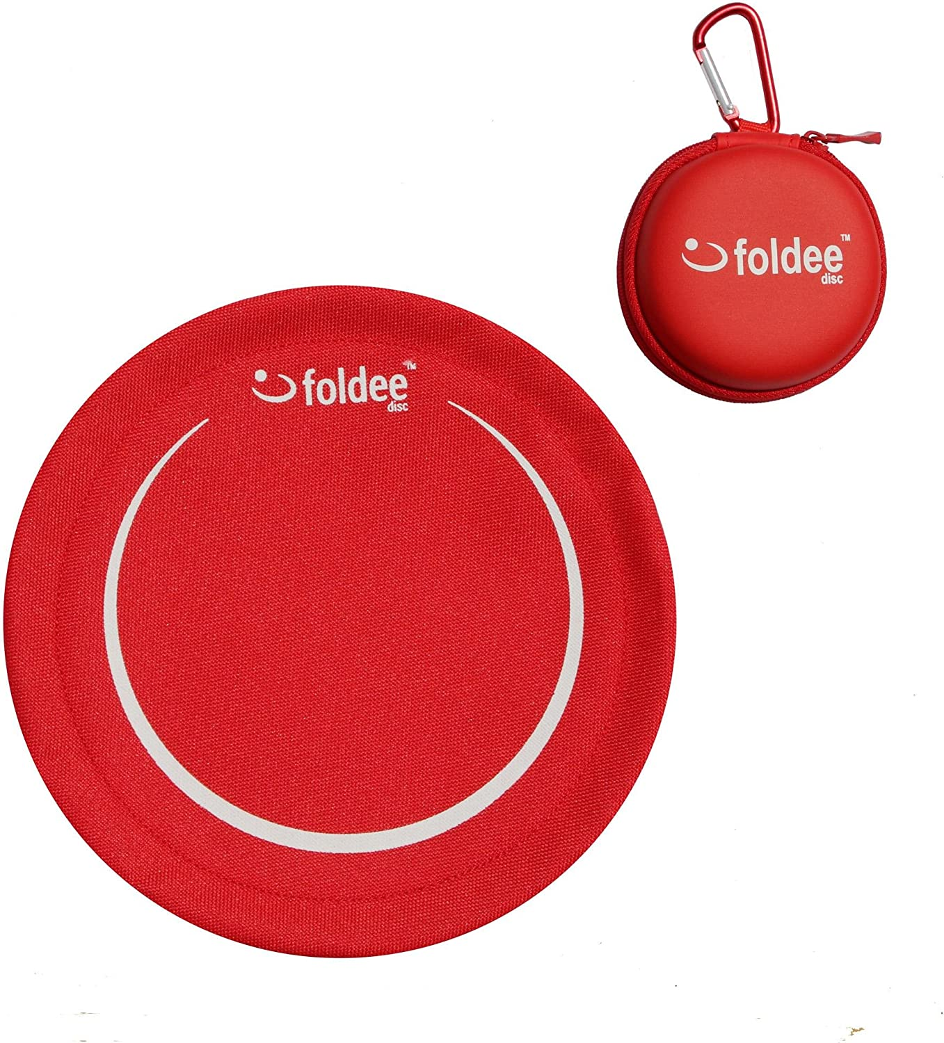 FOLDEE Frisbee Portable Flying Disc and Case Set Bordercollie (red)