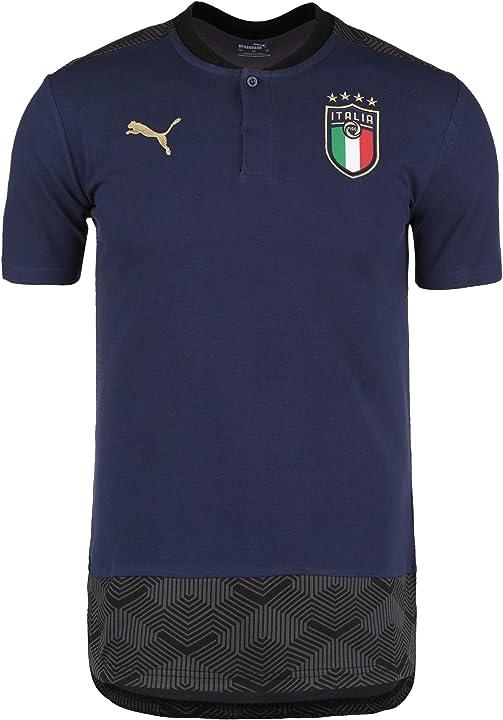 Polo nazionale italiana calcio puma figc casuals polo shirt uomo 757224