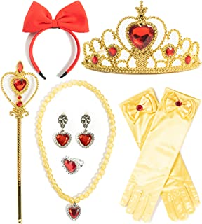 FUNNA Princess Dress Up Costume Cosplay Party Accessories for Kids Girls