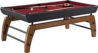 "Hall of Games Edgewood 84"" Billiard Table, Burgundy/Black (BL084Y19003)"