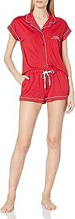 Women's Sleeve Top and Short Classic Pajama Set Pj