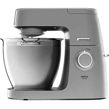 Kenwood Chef Elite XL Stand Mixer for Baking- Powerful, Large Food Mixer, with K-beater, Dough Hook, Whisk and 6.7 L Bowl, 1400W, KVL6100S, Silver
