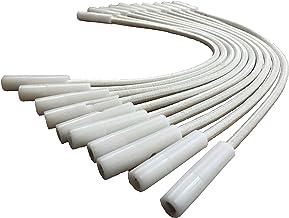 International Pool Protection Tensores de Goma Regulables para cobertor de Piscina. Kit 10 Ud Blancas