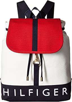 Sporty Signature Canvas Backpack